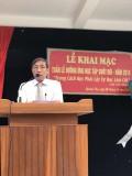 Thầy hiệu trưởng Trương Hữu Tuệ phát biểu khai mạc
